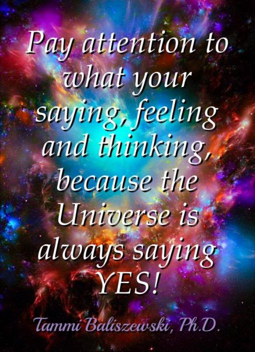 universe says yes